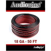 18 Gauge 50 Speaker Wire Copper Clad Red Black Zip Cable 12 Volt Low Voltage