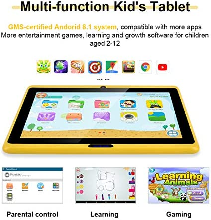 CARRVAS Tablet for Kids, 7inch WiFi & Android 8.1 KidsTablet 1G(RAM)+16G, Pre-Installed Iwawa, Parenting Control Tablet with Educational Games App 51e3ITXH2KL