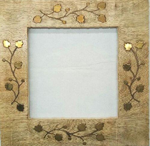 Bungalow Ikkis Decorative Wooden Curtain Tiebacks Set of 2 Window Holdbacks (Square Gold) by Bungalow Ikkis (Image #1)