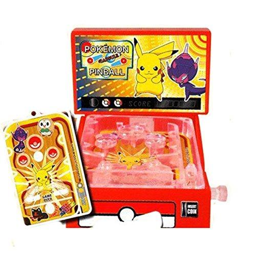Anime1stop Pokemon Sun & Moon Mini Pinball Machine Pikachu Poipole Desktop Collection Minature Pocket Toy Collectible Party Favors