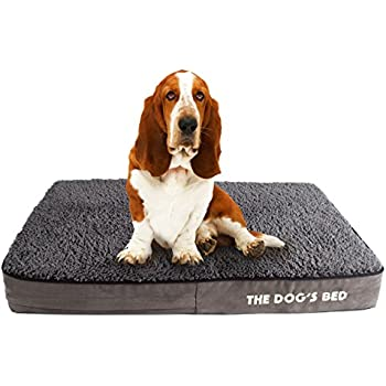 The Dogs Bed, Premium Plush Orthopedic Waterproof Memory Foam Dog Beds, 5 Sizes/7 Colors: Eases Pet Arthritis, Hip Dysplasia & Post Op Pain, ...