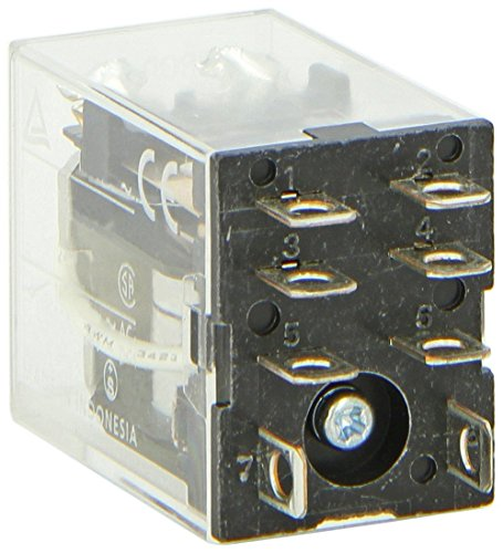 Omron LY2-AC24 General Purpose Relay, Standard Type, Plug-In/Solder Terminal, Standard Bracket Mounting, Single Contact, Double Pole Double Throw Contacts, 53.8 mA at 50 Hz and 46 mA at 60 Hz Rated Load Current, 24 VAC Rated Load Voltage - Ac24 General Purpose Relay