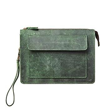 Bolsa de mano de cuero para hombres retro de cuero bolsa de ...