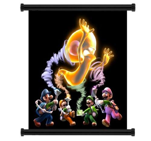 Luigi's Mansion: Dark Moon Game Fabric Wall Scroll Poster...