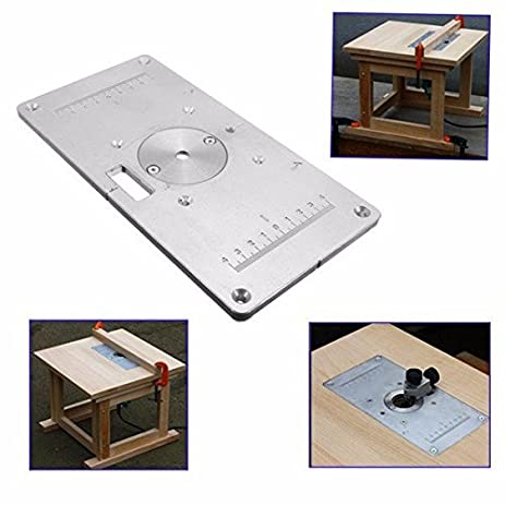 Amazon doradus 235mm x 120mm x 8mm aluminum router table insert doradus 235mm x 120mm x 8mm aluminum router table insert plate for woodworking greentooth Images