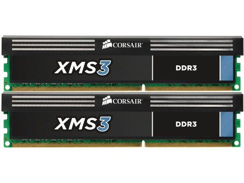 Corsair XMS3 8 GB (2 x 4GB) 1333 MHz PC3-10666 240-Pin DDR3 Memory Kit 1.5V by Corsair