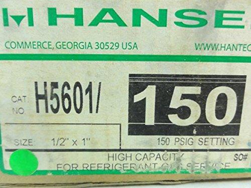 Hansen H5601/150 Pressure Relief Valve, 1/2'' X 1'' NPT