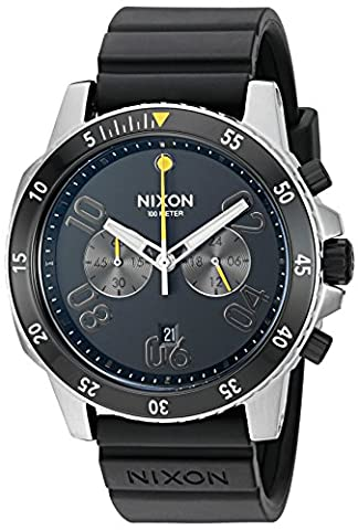 Nixon Men's A958000-00 Ranger Chrono Sport Analog Display Quartz Black Watch (Chrono Watch Sport)