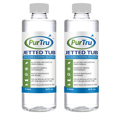 Spa Supplies Usa Hot Tubs Spas - Jetted Tub and Plumbing System Cleaner (2 Pack) - All Natural and Safe Cleaner For Whirlpool, Jacuzzi, Kohler And All Jetted Tubs, Hot Tubs, Bath Tubs and Spa Tubs