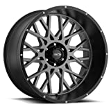Vision Rocker 18x9 Gray Black Wheel / Rim 8x170 with a -12mm Offset and a 125.2 Hub Bore. Partnumber 412-8970ABL-12