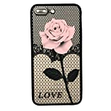 Software : For iphone 7 Plus 5.5inch Case Sinfu Thin Mesh Rose Heat Dissipation Protective Cover (B)