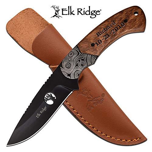 Elk Ridge Personalized Laser Engraved Tactical Pocket Knife, Fathers Dad for Day, Groomsmen Gift, Graduation Gifts, Gifts for Men, (ER-200-09BR)