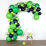Lunar Bliss 16 ft Balloon Arch & Garland Kit | 100 Balloons, Green, Blue, Confetti | Birthday Party Decorations, Baby Shower, Engagement, Bridal Shower, Wedding, Anniversary, Event (Fizzy Lime)