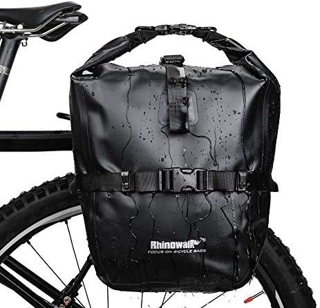 Selighting Bolsa Alforja Trasera para Bicicleta 20L, Grande Bolsa Bicicleta Multifunción Carretera MTB Bicicleta de Montaña (Negro): Amazon.es: Deportes y aire libre