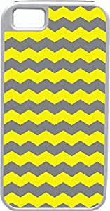 Blueberry Design Apple iPhone 5 Case iPhone 5S Case Zigzag Wave Design Yellow and Dark Grey - Ideal Gift