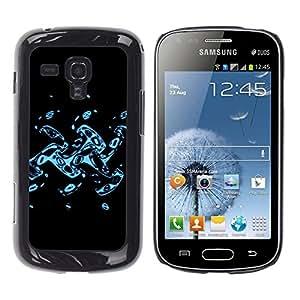Be Good Phone Accessory // Dura Cáscara cubierta Protectora Caso Carcasa Funda de Protección para Samsung Galaxy S Duos S7562 // Abstract Splash