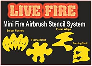TRUE LIVE FIRE-REALISTIC FLAMES MINI STENCILS SET-Paint
