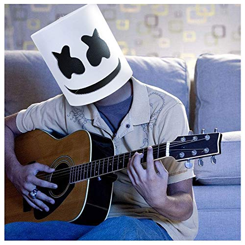 DJ Marshmello Mask,Marshmello Helmet Cosplay Costume Carnaval Halloween Prop DIY EVA Masks for Adults and Kids ()