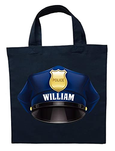 Halloween Trick Or Treat Bags Personalized.Policeman Trick Or Treat Bag Personalized Policeman Halloween Bag Police Officer Loot Bag Police Officer Trick Or Treat Bag
