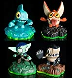 Skylanders Sidekicks Full Set of All Four; Trigger Snappy, Whisper Elf, Gill Runt, Terrabite