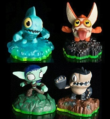 Skylanders Sidekicks Full Set of All Four; Trigger Snappy, Whisper Elf, Gill Runt, Terrabite by Sylanders