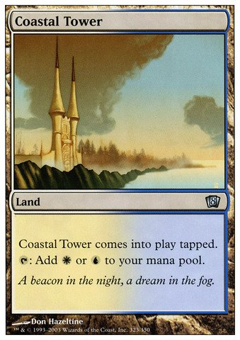 Magic: the Gathering - Coastal Tower - Eighth Edition - Foil Coastal Tower