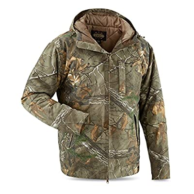 Guide Gear Men's Insulated Silent Adrenaline Hunting Jacket, Realtree Xtra, L