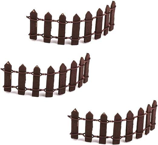 Fliyeong Mini valla de madera para macetas, manualidades ...