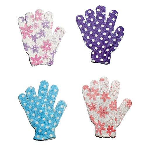 Pair Printed Exfoliating Gloves Rejuvenating product image