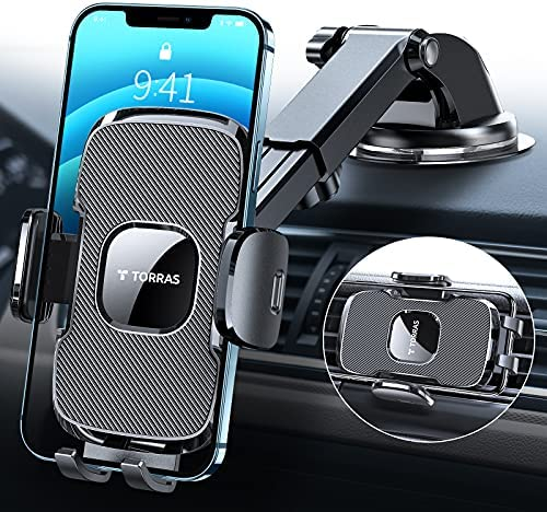 Cell Phone Holder for Car FITFORT Universal Silicone Anti-Slip Car Phone Mount GPS Holder Mounting in Vehicles Pickup Compatible with iPhone 12//12 Pro Max//11 Pro//X//8//7 Plus Samsung S//Note Phones