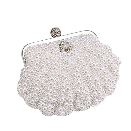 Borse strass rilievo Shell Bags Hasp Messenger in Mini serata Clutch borsa Bianca cristallo Glitter republe Weding qwBIf1WXf