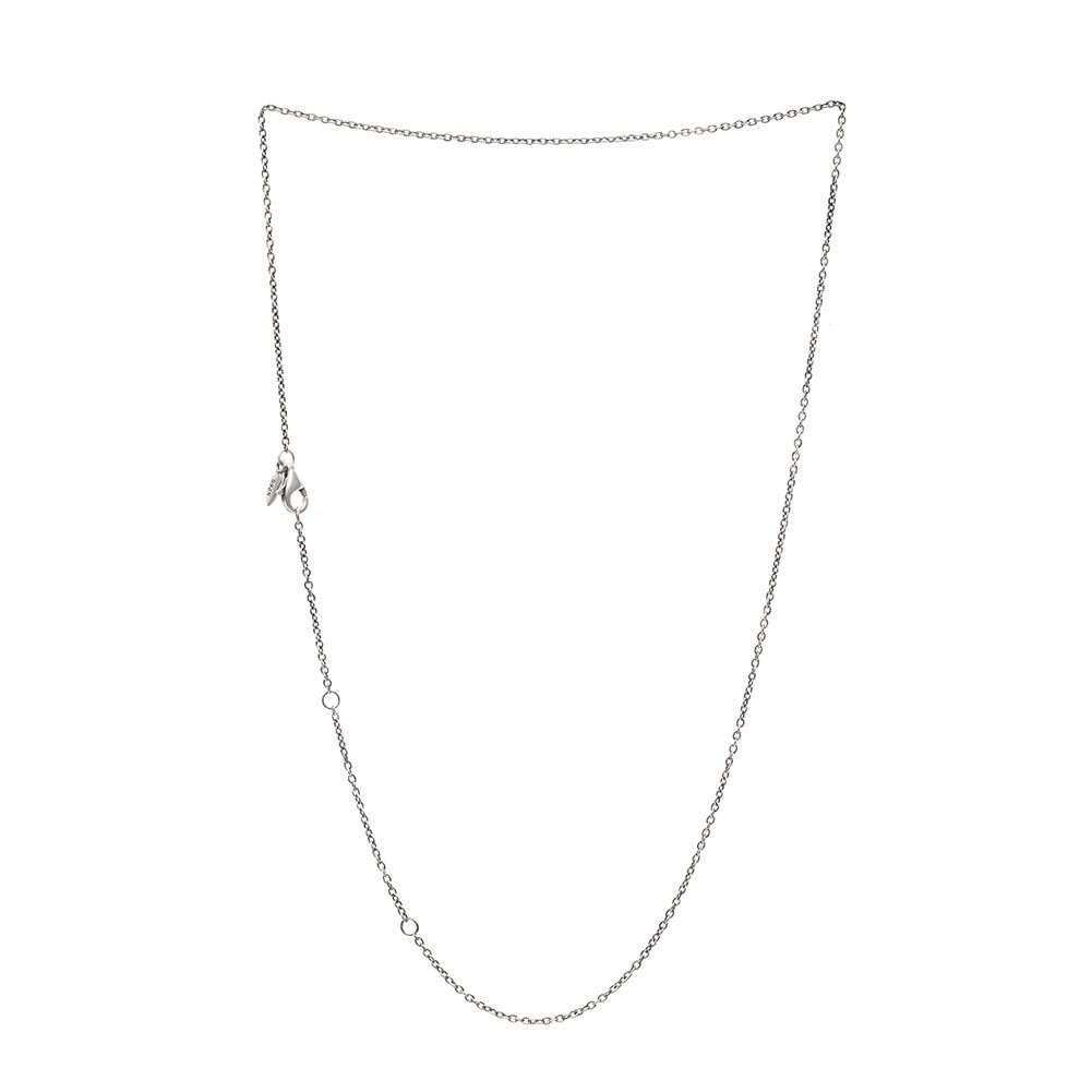 Ollia Jewelry 925 Sterling Silver 1.5mm Adjustable Rolo Chain Necklace with Lobster Claw Clasp Fit European Style Beads and Charms (20 inches(longest))