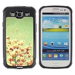 Suave TPU GEL Carcasa Funda Silicona Blando Estuche Caso de protección (para) Samsung Galaxy S3 III I9300 / CECELL Phone case / / Vintage Pastel Pink Snapdragon /