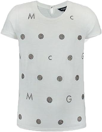 MCGREGOR - Camisa de manga corta Suus Panel, Chica, Color: Blanco, Talla :4 años: Amazon.es: Ropa y accesorios