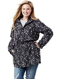 Plus Size Weather-Resistant Taslon Anorak