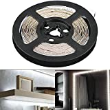 EEEKit Dimmable 300 LED Light Strip Kit w/Power Supply, Super Bright 13 Feet 12V LED Ribbon, 6000K Daylight White Under Cabinet Lighting Strips, LED Tape