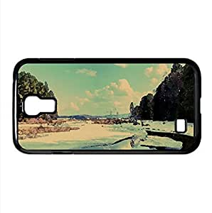 Snow Melting Watercolor style Cover Samsung Galaxy S4 I9500 Case (Winter Watercolor style Cover Samsung Galaxy S4 I9500 Case)