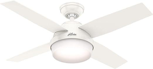 HUNTER Ventilador de Techo Dante Blanco/Roble 112 cm con luz ...