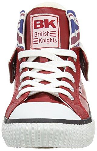 British Knights ROCO UNION JACK - Zapatilla alta de material sintético unisex Rot (red multi 02)