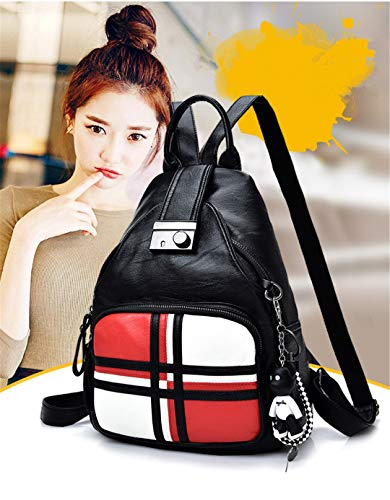 en White étudiant cuir femmes Pu sacs dos dames sac cuir d'école sacs en dos sac femmes xwzgZAxqO