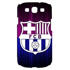 FC Barcelona Logo Phone Case for Samsung Galaxy S3 3D Hard Black Plastic Cover
