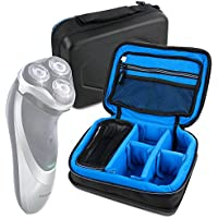 Protective EVA Shaver / Sharing Case (in Blue) - Compatible with Philips PowerTouch Razer PT860/16, 5.4 Watt - by DURAGADGET
