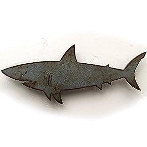 Handmade Shark Metal Wall Art