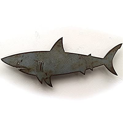 Handmade Shark Metal Wall Art