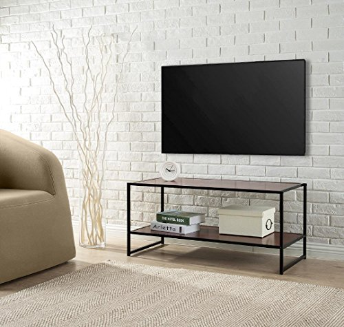 Zinus Garrison Modern Studio Collection TV Media Stand / Table (Bench Tv Glass)