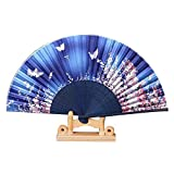 Panda Superstore Hand Held Folding Fan 8.27''(21cm) Beautiful Handheld Fan for Gifts for Women