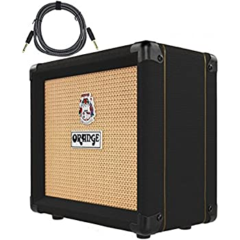 orange crush 12 black cr12 amp 12w small guitar combo amplifier free cable bundle. Black Bedroom Furniture Sets. Home Design Ideas