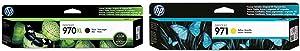 HP 970   PageWide Cartridge High Yield   Black   CN625AM & 971   PageWide Cartridge   Yellow   CN624AM