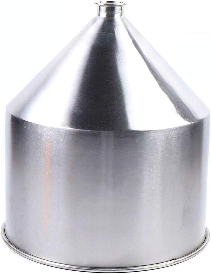 Embudo de acero inoxidable industrial de 40 l, de 2,52 pulgadas, embudo de acero inoxidable, embudo de llenado contra ácido y alcalino, corrosión para la transmisión de ingredientes líquidos