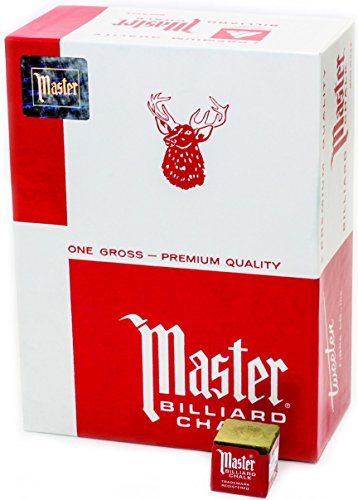 Master Billiard/Pool Cue Chalk, Gross Bo - Gold Pro Pool Cue Shopping Results